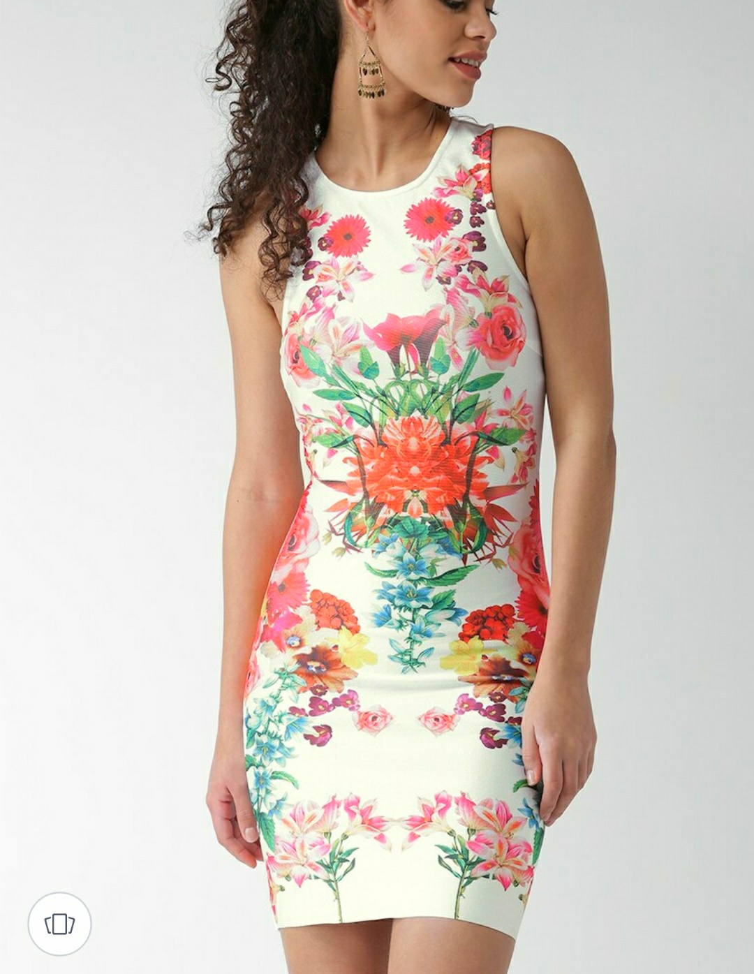 Forever 21 women multicolored floral sheath dress