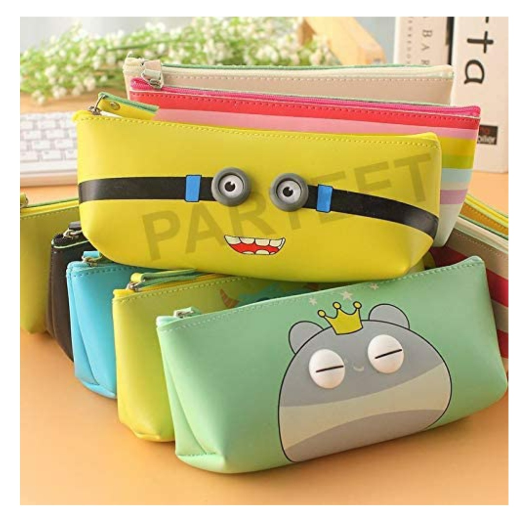 Soft Silicon School Pencil Pouch Stationery Case Box -for Birthday Party Return Gift for Kids(Pack of 6 Pcs)