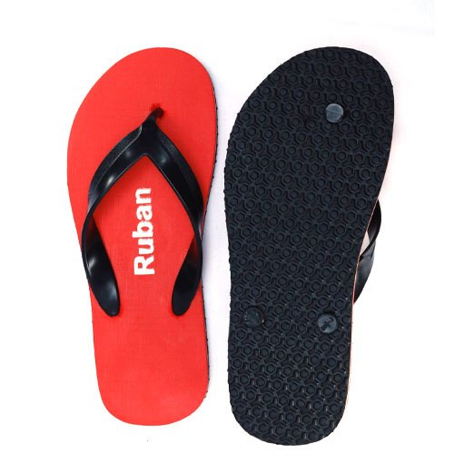 Men's Rubber Slipper (with black strip)
