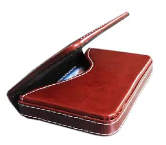 Stitched Leather Business ATM Visiting Card Holder