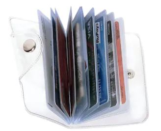 Stylish Credit/debit/ATM/ID/Visiting SUPER SLEEK, STURDY, Transparent Card Holder(Set of 1)