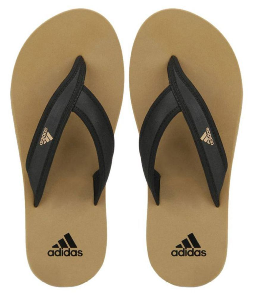 ADIDAS RIO WOVEN BLACK & KHAKI DAILY SLIPPERS